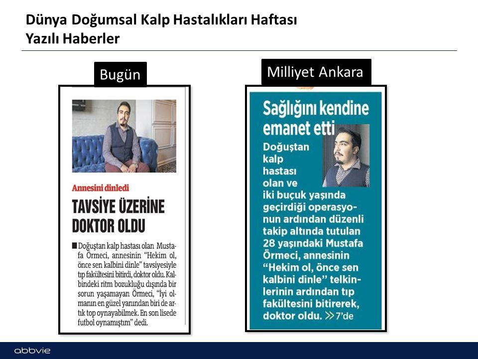 Dünya Doğumsal Kalp Hastalıkları Haftası Yazılı Haberler Milliyet AnkaraGazipaşa Gazetesi