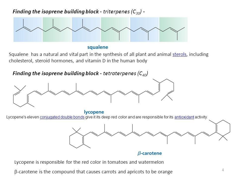 Biosynthesis of Terpenes Biological isoprene - isopentenyl pyrophosphate (3-methyl-3-butenylpyrophosphate).