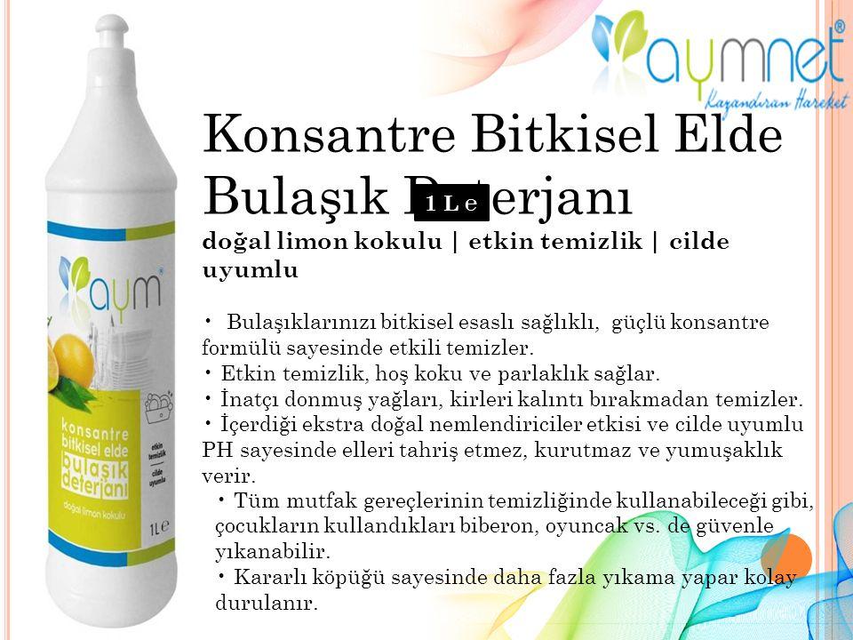 Konsantre Bitkisel Elde Bulaşık Deterjanı doğal limon kokulu | etkin temizlik | cilde uyumlu Bulaşıklarınızı bitkisel esaslı sağlıklı, güçlü konsantre formülü sayesinde etkili temizler.