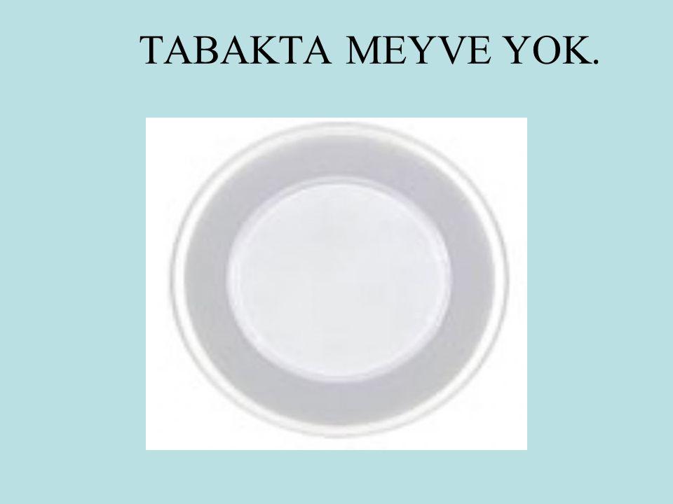 TABAKTA MEYVE YOK.