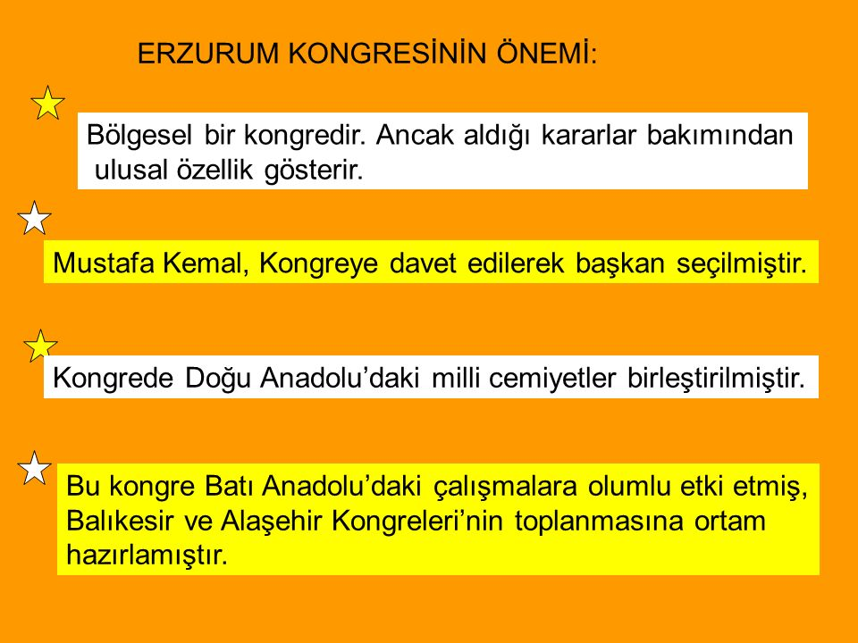 Bölgesel bir kongredir. Ancak aldığı kararlar bakımından ulusal özellik gösterir. Mustafa Kemal, Kongreye davet edilerek başkan seçilmiştir. Kongrede