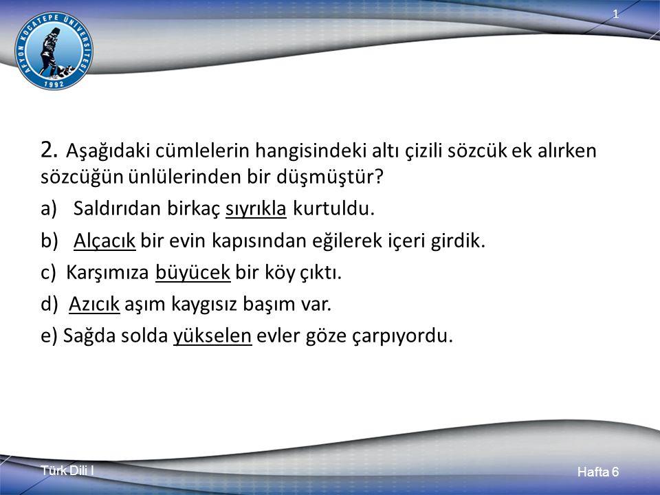 Türk Dili I Hafta 6 1 2.