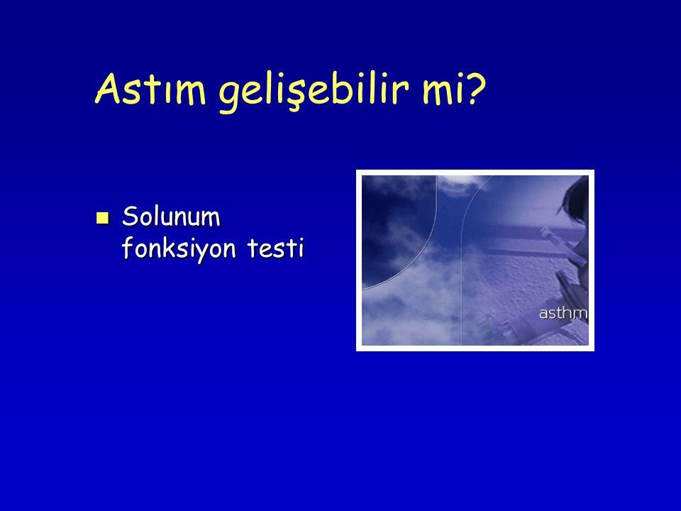 Astım gelişebilir mi? Solunum fonksiyon testi Solunum fonksiyon testi