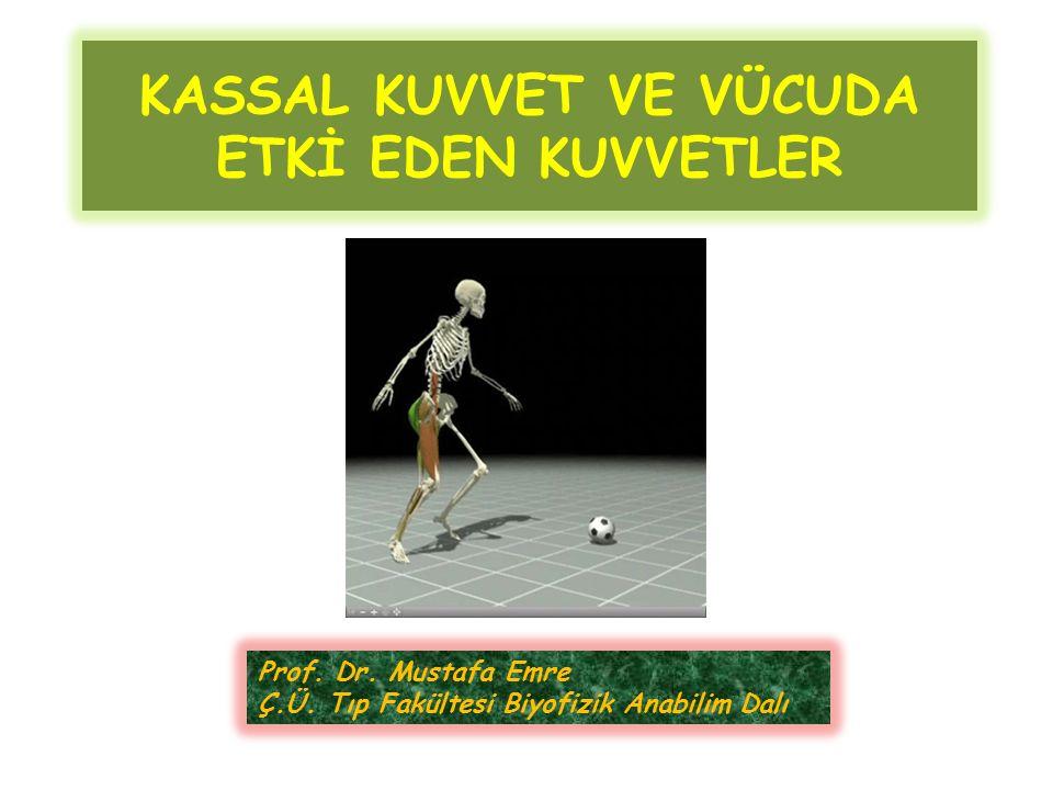 KASSAL KUVVET VE VÜCUDA ETKİ EDEN KUVVETLER Prof. Dr. Mustafa Emre Ç.Ü. Tıp Fakültesi Biyofizik Anabilim Dalı