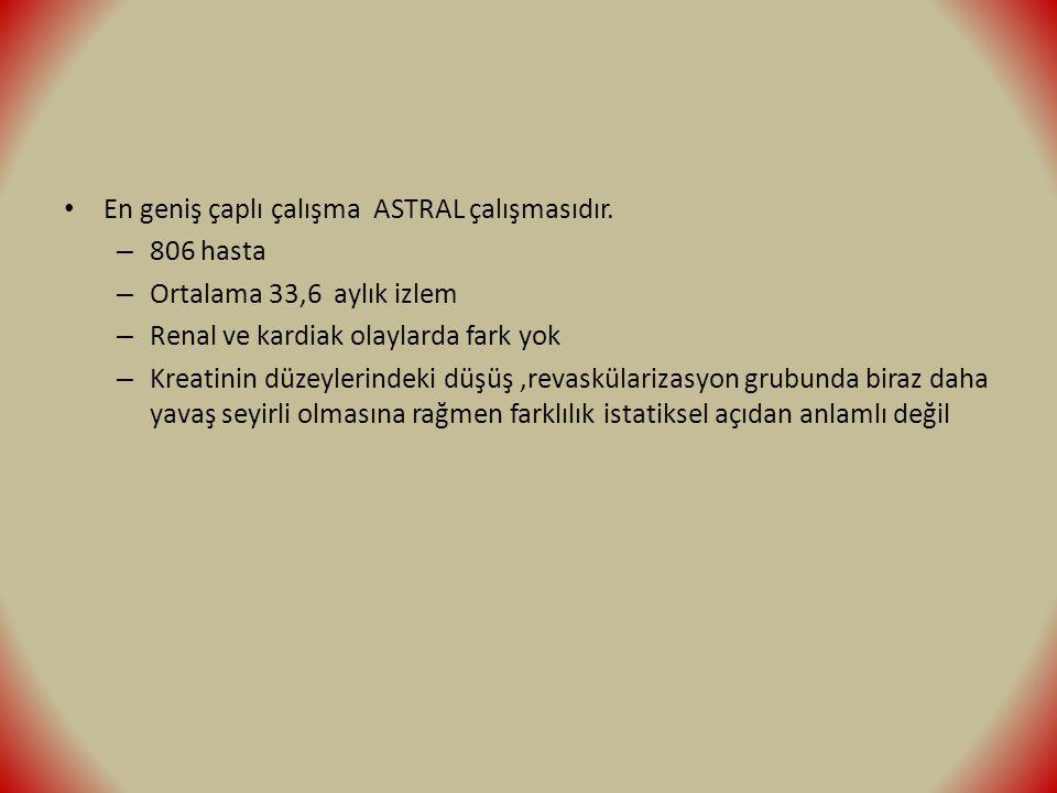En geniş çaplı çalışma ASTRAL çalışmasıdır.