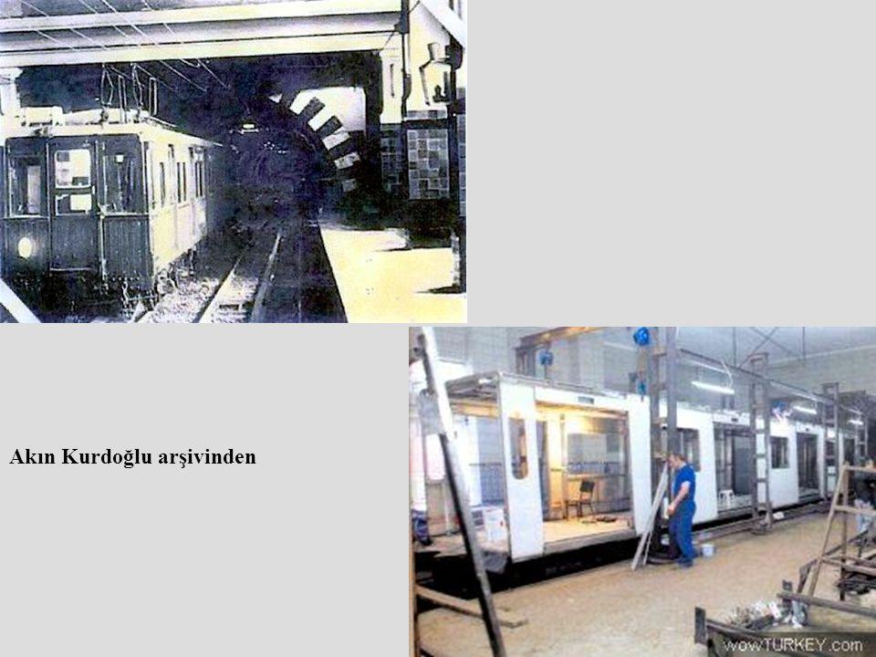 1940 larda tünelde ahşap vagonlar hizmet veriyordu.