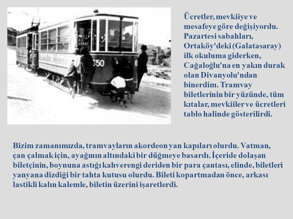 3ncü mevkii tramvay bileti 40 paralık Osmanlıca tramvay bileti 70 paralık fransız matbaası basımı bilet