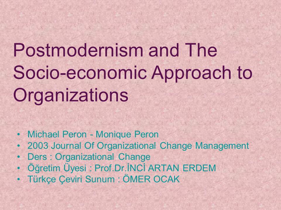 Bu makale, bir mimari olarak düşünülen yönetime sosyoekonomik bakış(seam) ve post modern hareket arasındaki bağlantıları ortaya çıkarmaktadır.