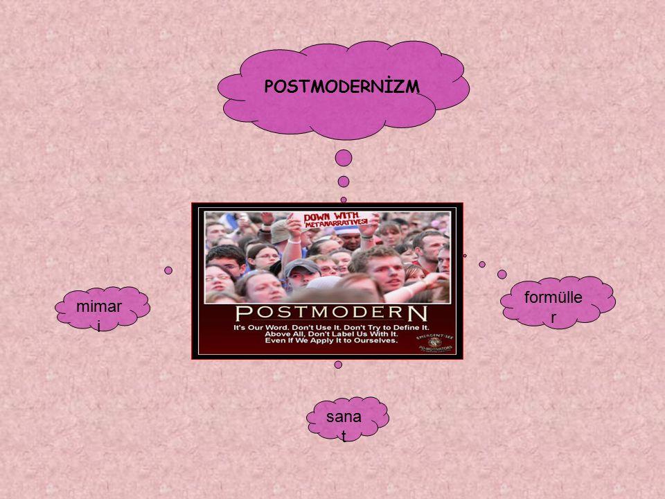 Postmodernizmi benimseyen biri kendini hem heryerde hem hiçbir yerde görebilir.