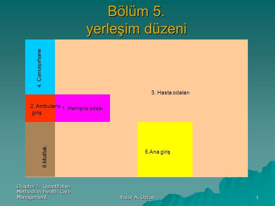 22 ÖRNEK YERLEŞİM  Bir hastanenin zemin katında sekiz adet bölümden oluşan yeni bir yerleşim yapılmak istenmektedir.