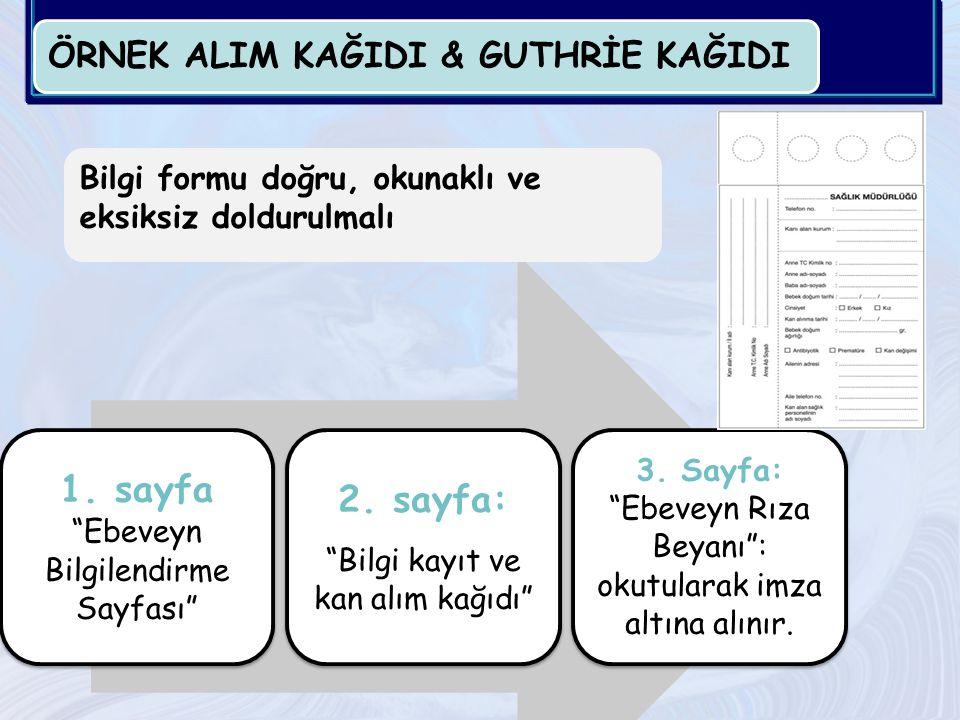 ÖRNEK ALIM KAĞIDI & GUTHRİE KAĞIDI 1.sayfa Ebeveyn Bilgilendirme Sayfası 2.