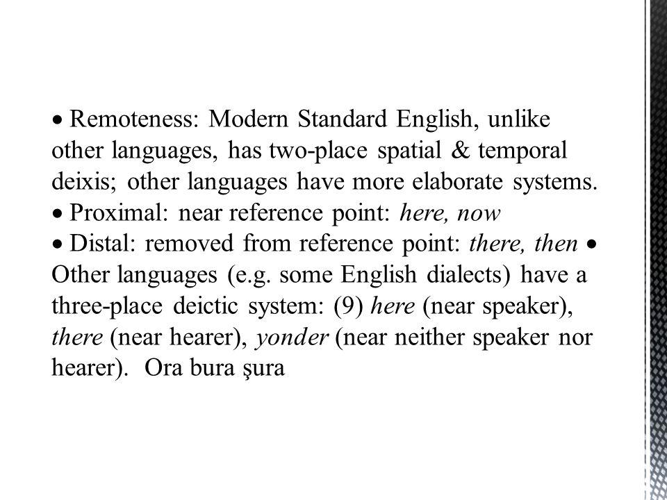  Demonstrative Pronouns  The deictic forms grouped under this heading are bu, şu, o, bunlar, şunlar, onlar (nominative); bunun, şu-nun, o-nun, bunlar-ın, şunlar-ın, onlar-ın (genitive); bu-nu, şu-nu, o-nu, bunlar-ı, şunlar-ı, onlar-ı (accusative); bu-n-da, şu-n-da, o-n- da, etc.