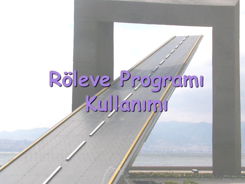 Röleve Programı Kullanımı