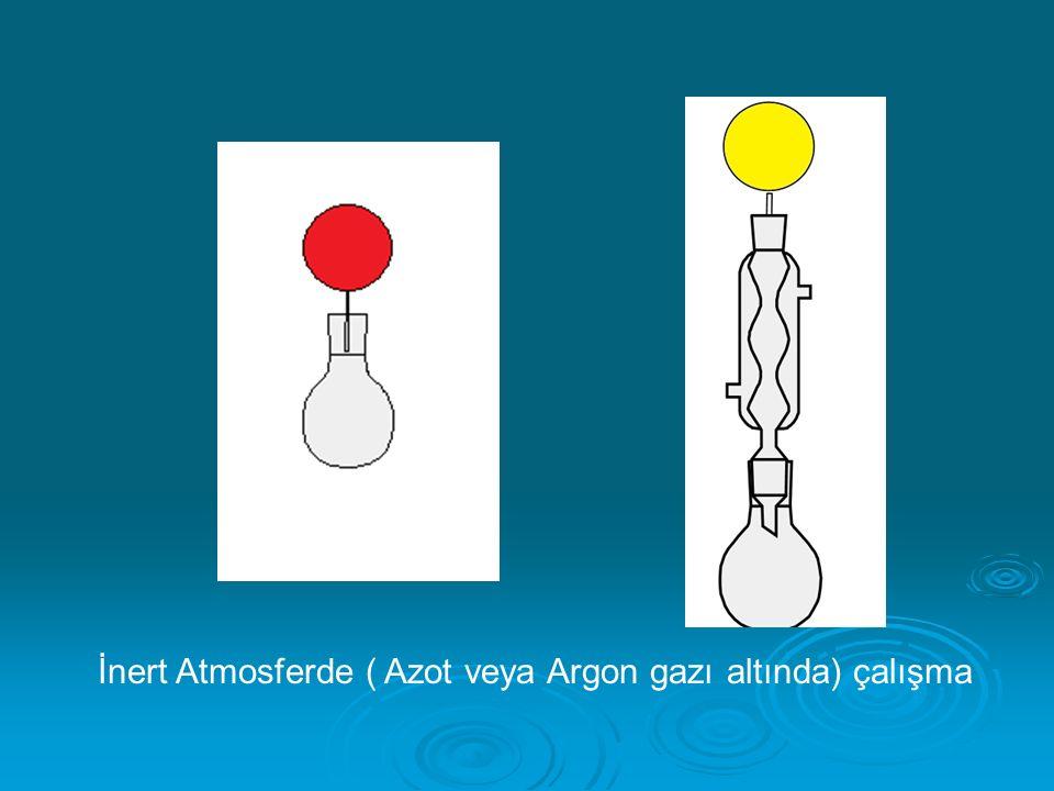 İnert Atmosferde ( Azot veya Argon gazı altında) çalışma