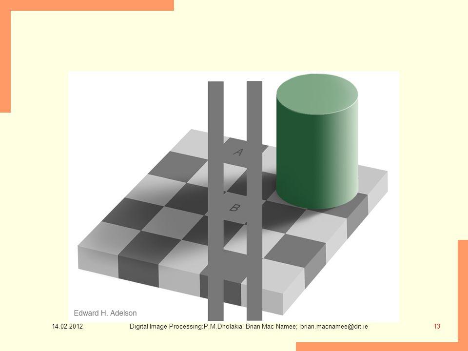 14.02.2012 13Digital Image Processing:P.M.Dholakia; Brian Mac Namee; brian.macnamee@dit.ie