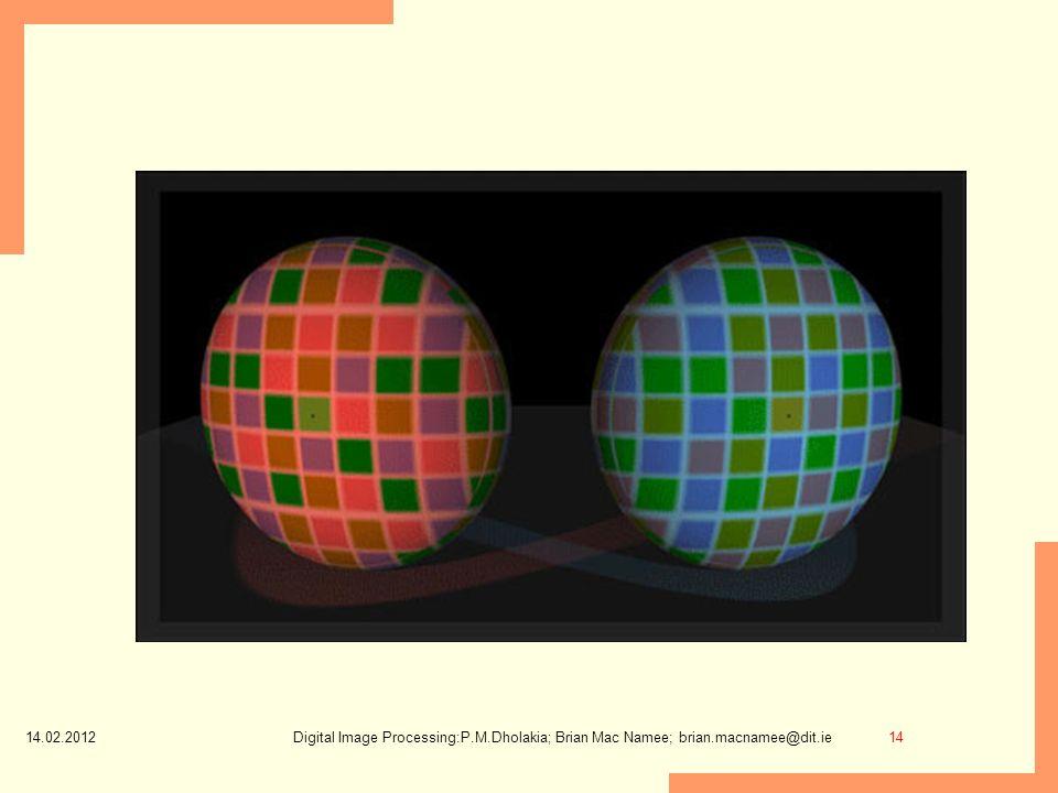 14.02.2012 14Digital Image Processing:P.M.Dholakia; Brian Mac Namee; brian.macnamee@dit.ie