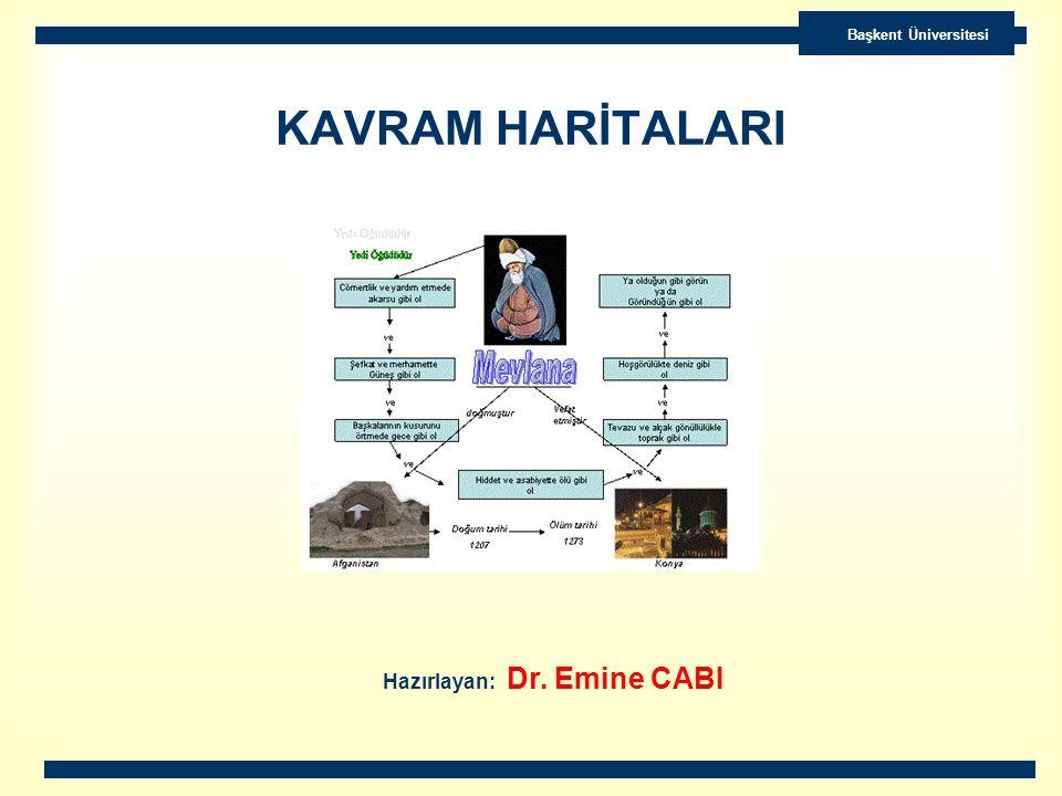 Başkent Üniversitesi KAVRAM HARİTALARI Hazırlayan: Dr. Emine CABI