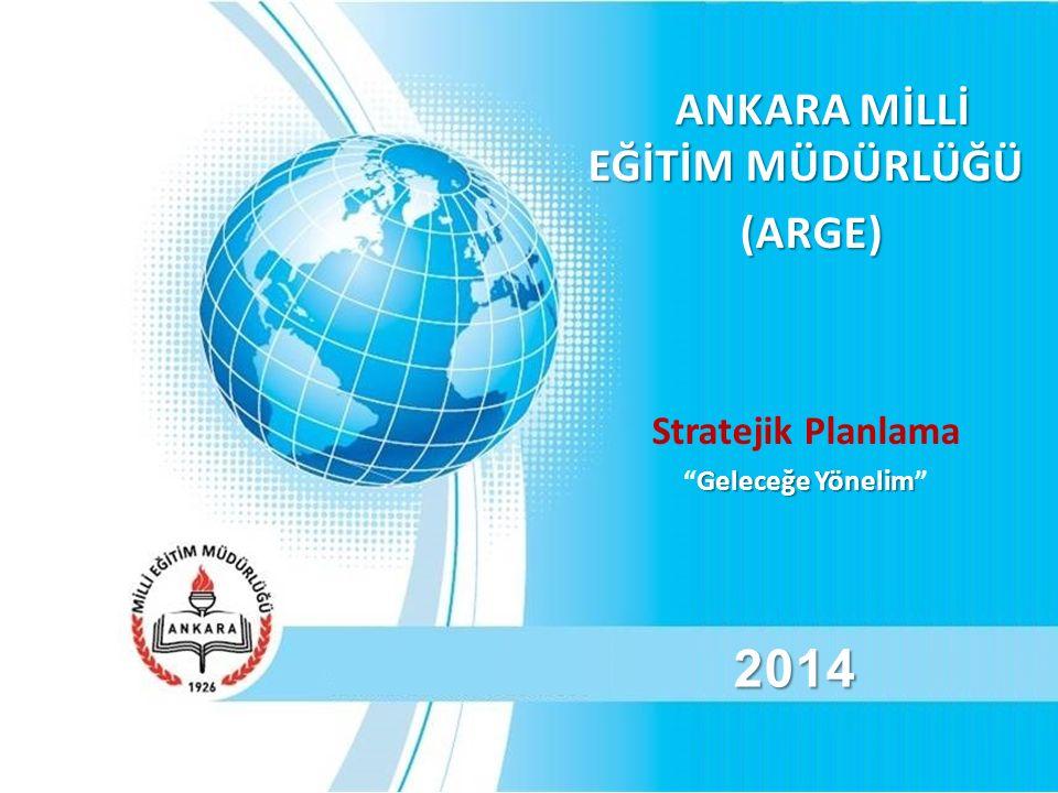 ANKARA MİLLİ EĞİTİM MÜDÜRLÜĞÜ ANKARA MİLLİ EĞİTİM MÜDÜRLÜĞÜ (ARGE) (ARGE) Stratejik Planlama Geleceğe Yönelim Geleceğe Yönelim 2014