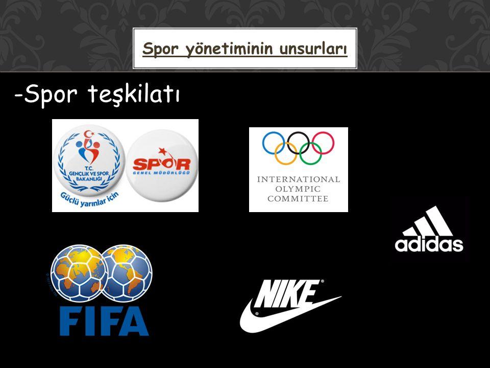 -Spor teşkilatı Spor yönetiminin unsurları