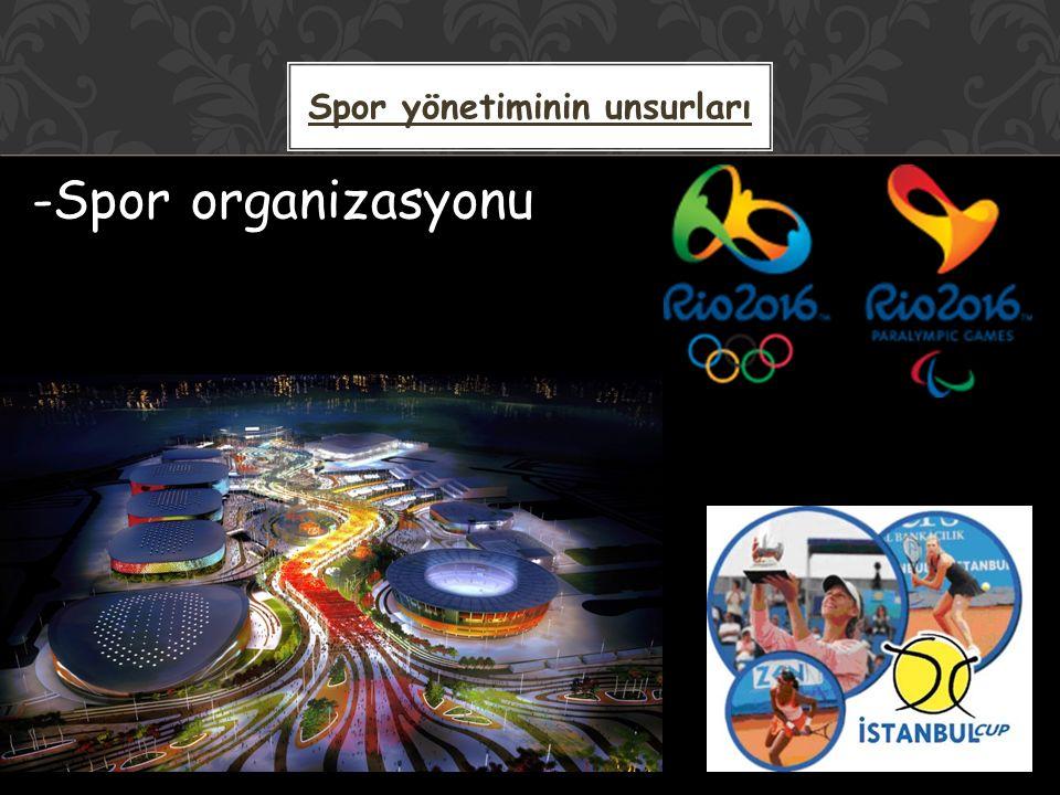 -Spor organizasyonu Spor yönetiminin unsurları