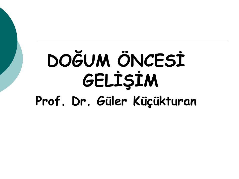 DOĞUM ÖNCESİ GELİŞİM Prof. Dr. Güler Küçükturan