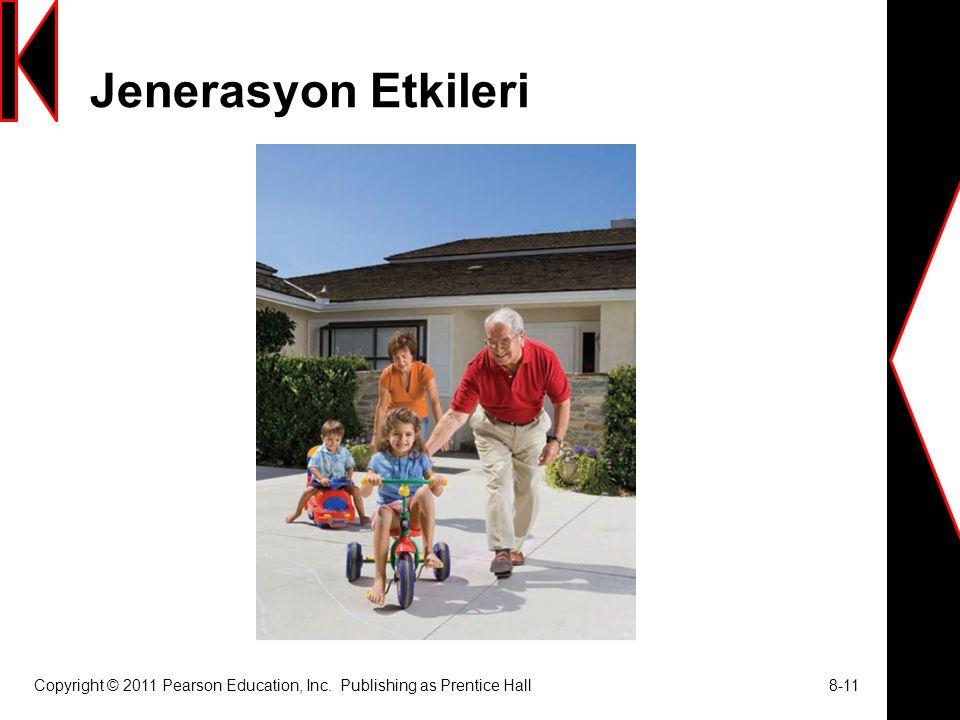 Jenerasyon Etkileri Copyright © 2011 Pearson Education, Inc. Publishing as Prentice Hall 8-11