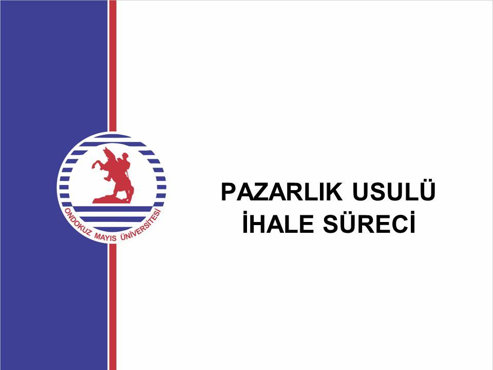 Teklif Zarflarının Alınması ve İhale Komisyonuna Teslimi  Süresi içinde teslim edilen zarflar için alındı belgesi düzenlenerek zarfı teslim edene verilir.