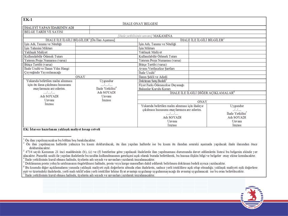 İhalenin Elektronik Kamu Alımları Platformuna (EKAP) Kaydı  Elektronik Kamu Alımları Platformundan (EKAP) ihale kayıt bilgileri girilerek İhale Kayıt Numarası alınır.