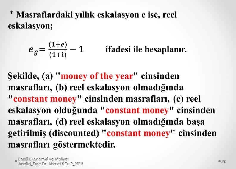 Enerji Ekonomisi ve Maliyet Analizi_Doç.Dr. Ahmet KOLİP_2013 73