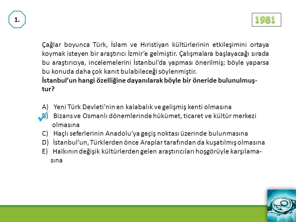 Çağlar boyunca Türk, İslam ve Hıristiyan kültürlerinin etkileşimini ortaya koymak isteyen bir araştırıcı İzmir'e gelmiştir.