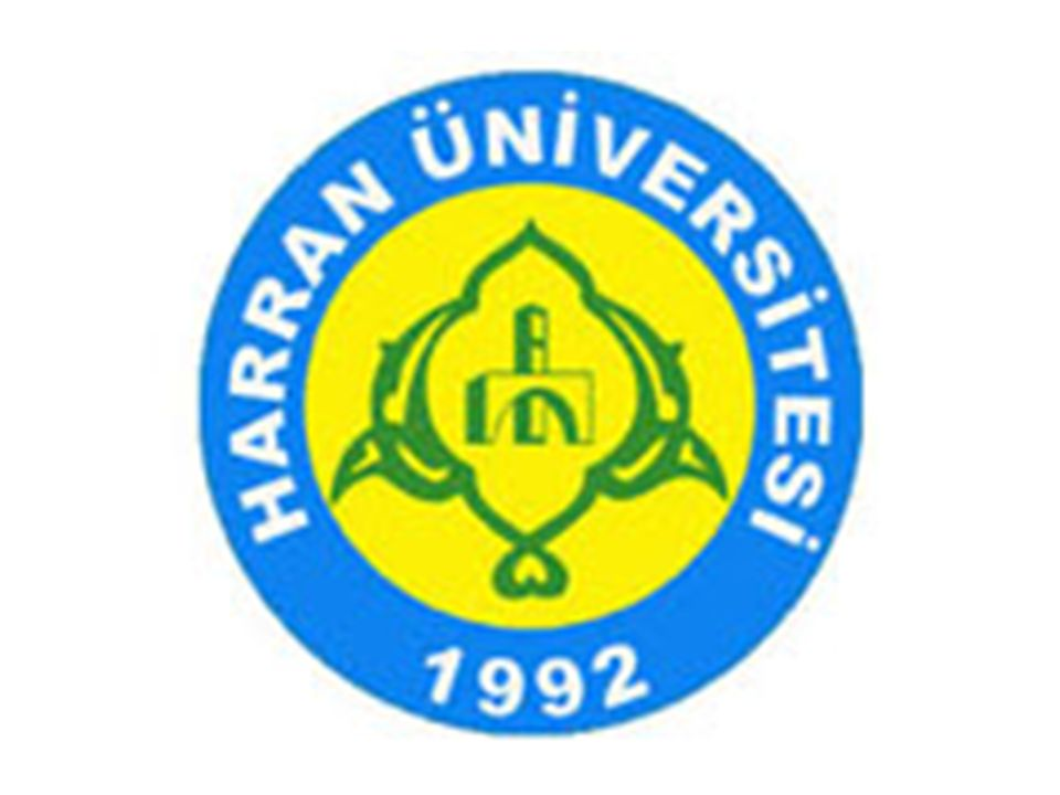 HARRAN University ŞANLI URFA 29 April 2015