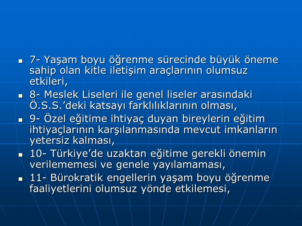 5.Fiziksel Koşulların Niteliğine Yönelik Öneriler 5.