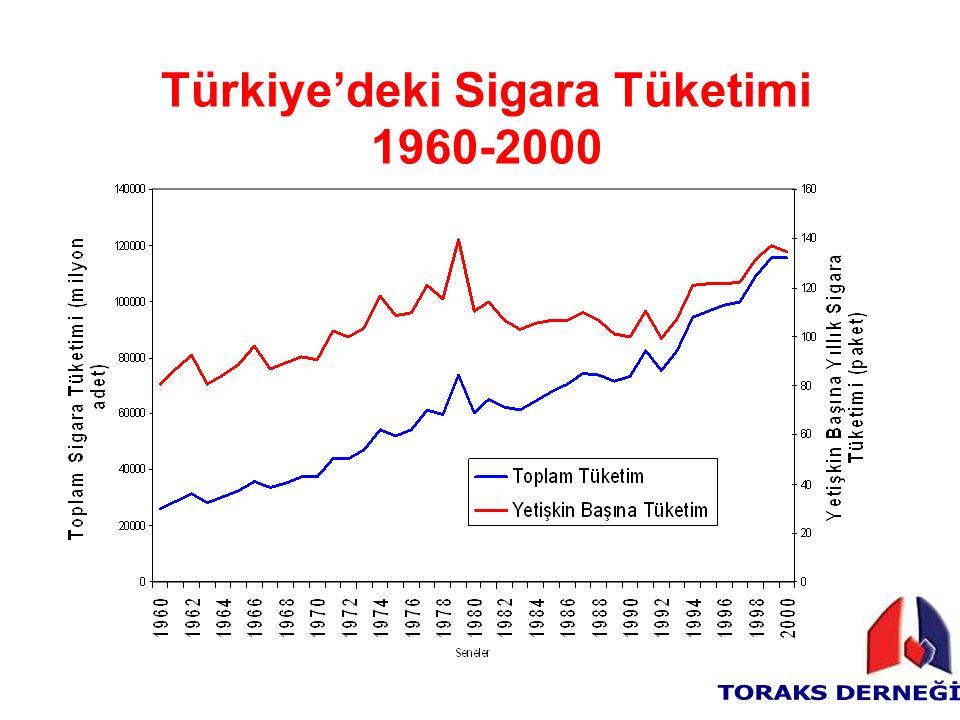 Türkiye'deki Sigara Tüketimi 1960-2000