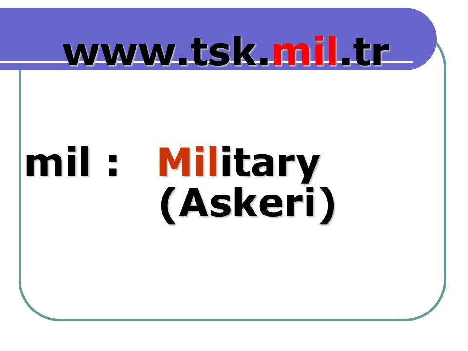 Military mil : www.tsk.mil.tr (Askeri) (Askeri)