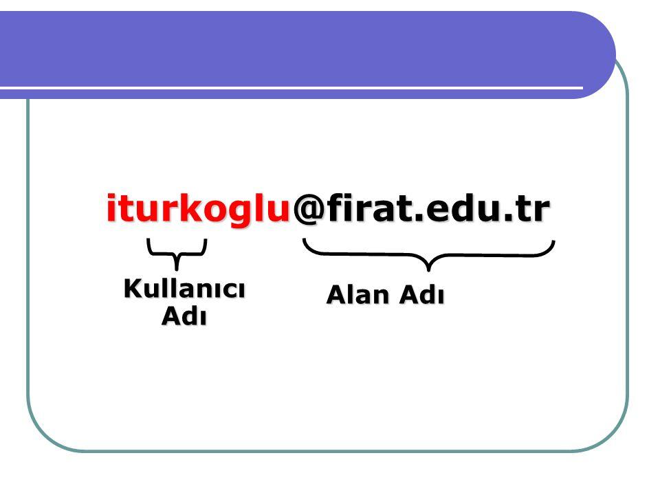 iturkoglu@firat.edu.tr Alan Adı KullanıcıAdı