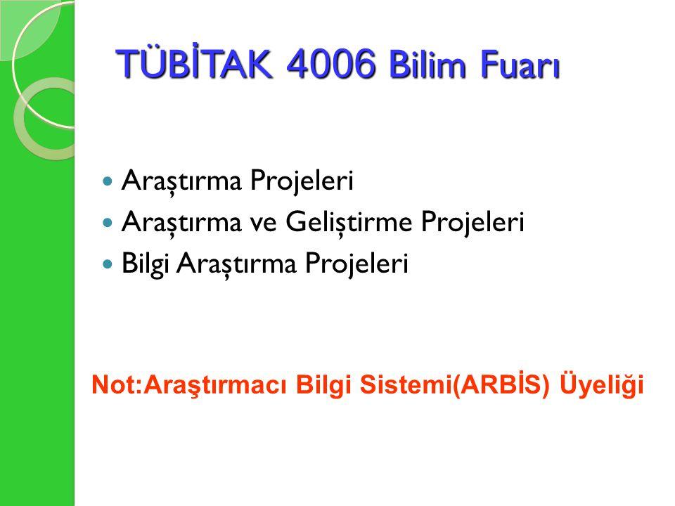 BAŞVURU ( http://bilimiz.tubitak.gov.tr )