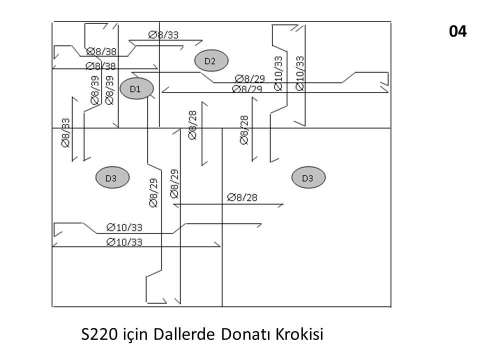 04 S220 için Dallerde Donatı Krokisi