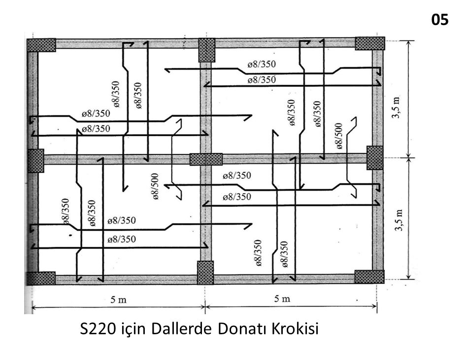 05 S220 için Dallerde Donatı Krokisi