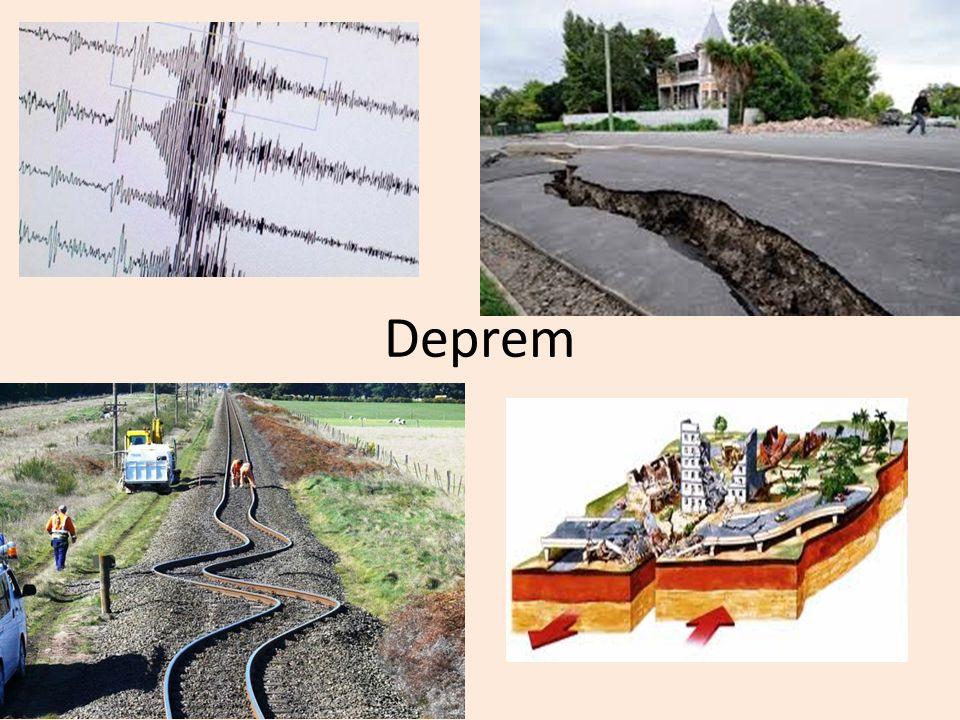Deprem ve 0luşumu Dünyadaki tektonik tabakaların hareketi sonucu meydana gelen ve ortaya çıkardığı büyük enerji ile oluşan sismik dalgaların, geçtiği yerleri ve yeryüzünü sarsması olayına deprem denir.