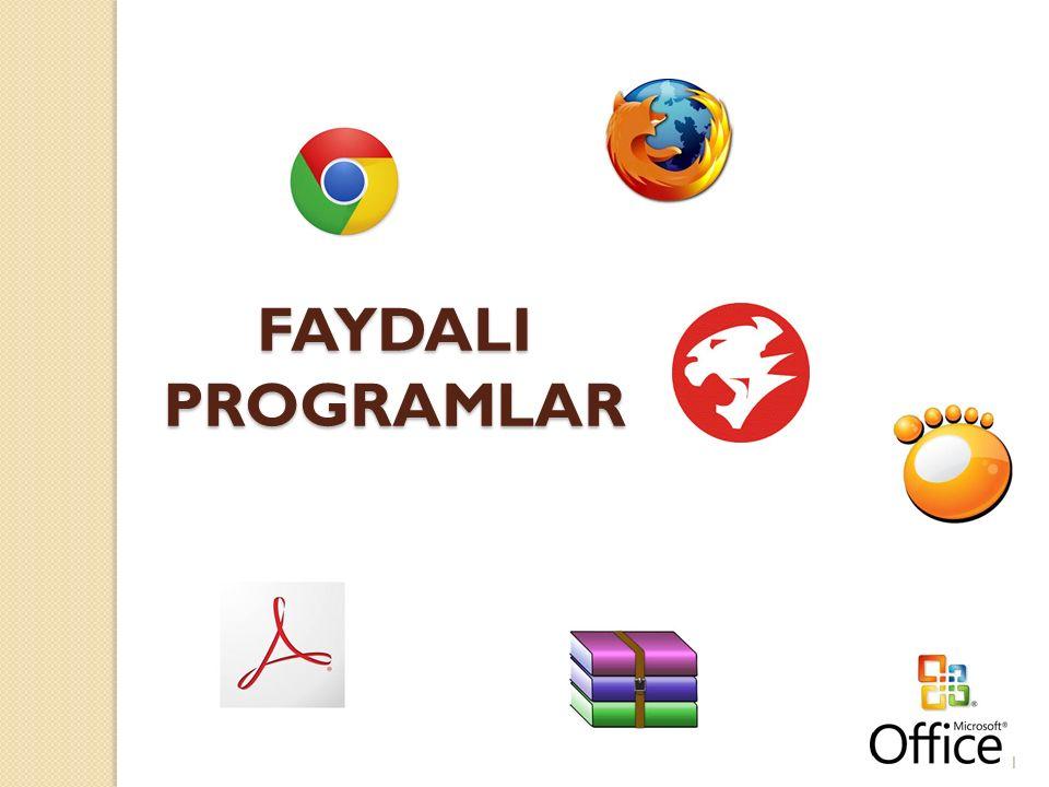 FAYDALI PROGRAMLAR 1
