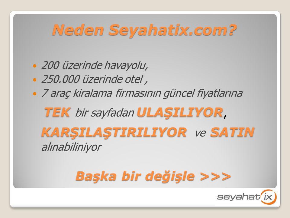 Neden Seyahatix.com.
