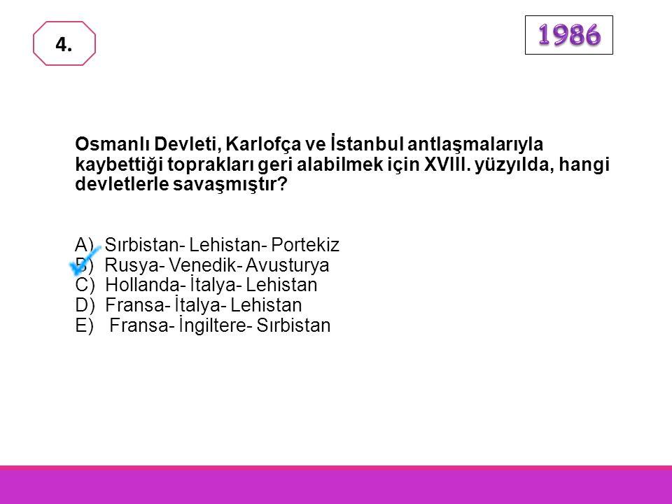 Osmanlı Devleti uzun yıllar yabancı ülkelerde sürekli elçilikler kur- mayı gerekli görmemiştir. Bu anlayış ilk defa aşağıdaki devirlerin hangisinde de