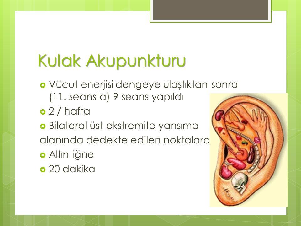 Kulak Akupunkturu  Vücut enerjisi dengeye ulaştıktan sonra (11.