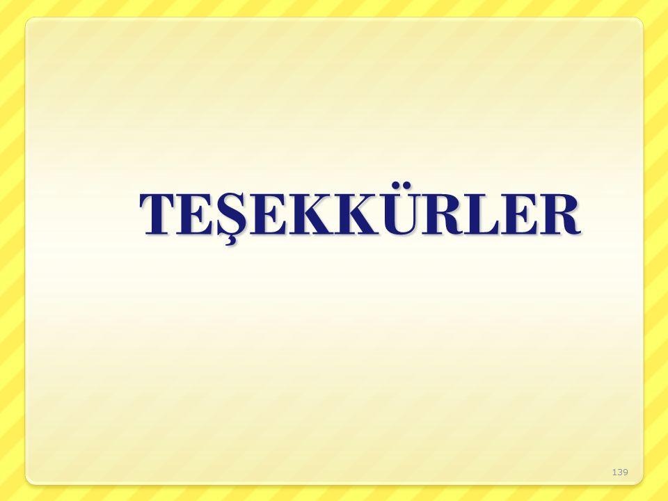 TE Ş EKKÜRLER 139