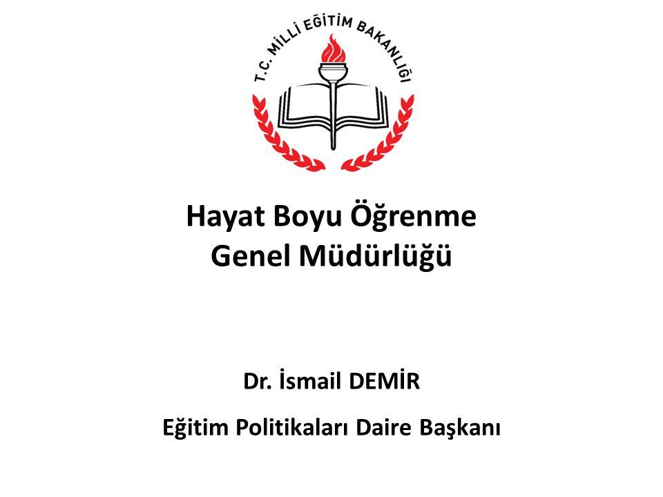 Hayat Boyu Öğrenme Genel Müdürlüğü Dr. İsmail DEMİR Eğitim Politikaları Daire Başkanı