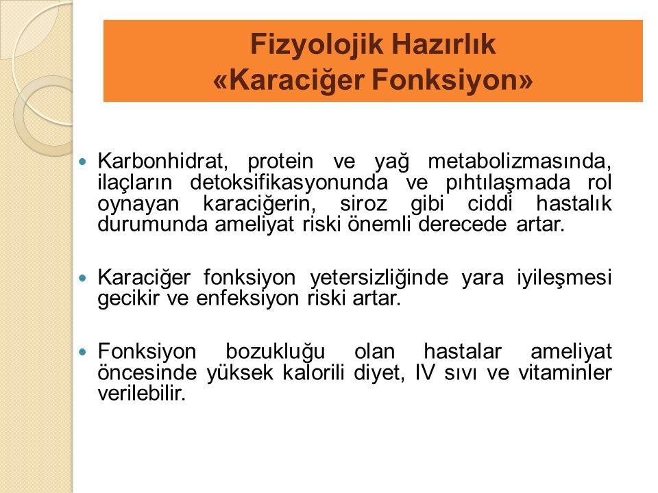 Karbonhidrat, protein ve yağ metabolizmasında, ilaçların detoksifikasyonunda ve pıhtılaşmada rol oynayan karaciğerin, siroz gibi ciddi hastalık durumu
