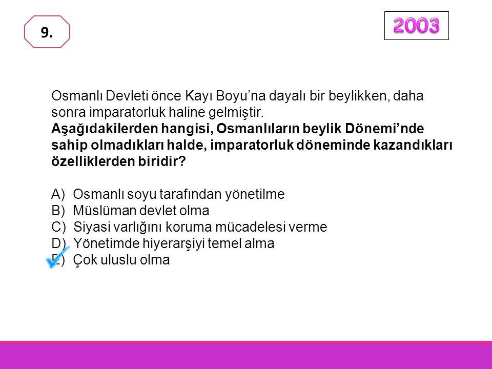 Osmanlı İmparatorluğu'nun egemenliği altında bulunan topraklar, devletin kuruluşundan XVII.