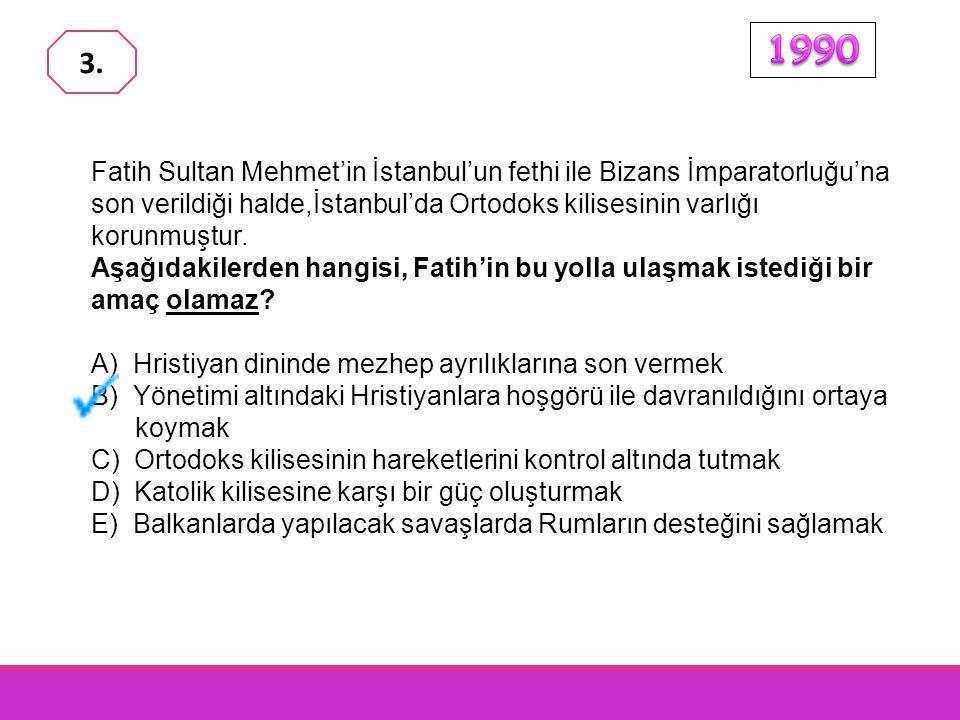 Fatih Sultan Mehmet; Fener Ortodoks Kilisesinin varlığını sürdürmesine izin verirken, Yahudi ve Ermeni cemaatlerinin örgütlenmelerine olanak sağlamıştır.
