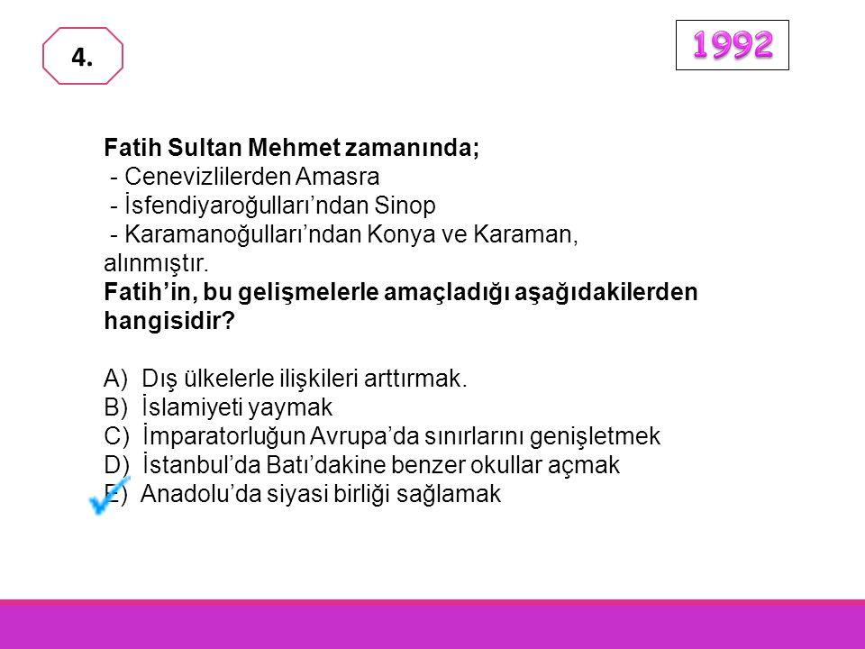 Fatih Sultan Mehmet'in İstanbul'un fethi ile Bizans İmparatorluğu'na son verildiği halde,İstanbul'da Ortodoks kilisesinin varlığı korunmuştur.