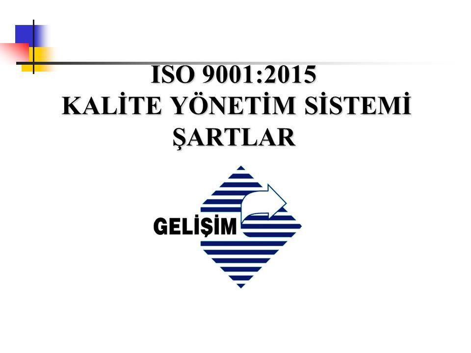 ISO 9001:2015 8.5 Üretim ve hizmetin sağlanması 8.5.1 Üretim ve hizmet sağlamanın kontrolü 8.5.2 Tanımlama ve İzlenebilirlik 8.5.3 Müşteriye veya dış sağlayıcıya ait mülkler 8.5.4 Muhafaza 8.5.5 Sevkiyat sonrası faaliyetler 8.5.6 Değişikliklerin kontrolü 8.6 Ürünlerin ve hizmetlerin serbest bırakılması 8.7 Uygun olmayan proses çıktıların, ürünlerin ve hizmetlerin kontrolü